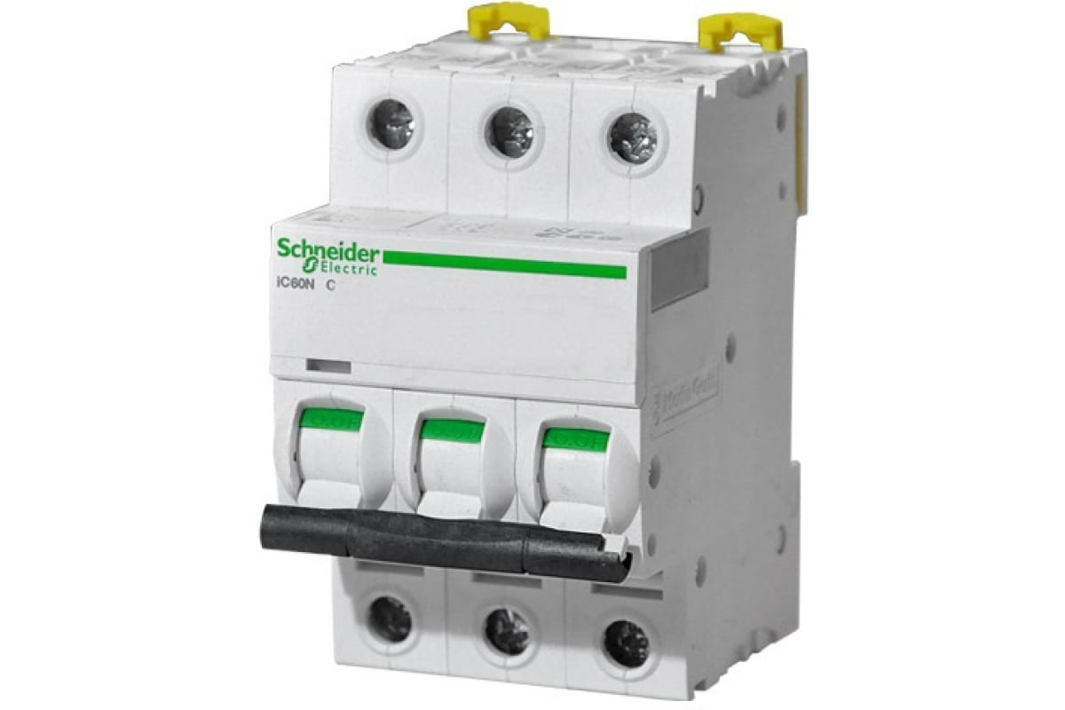 Автомат модульный Acti9 iC60N 3п C 25А 6кА Schneider Electric A9F79325  1