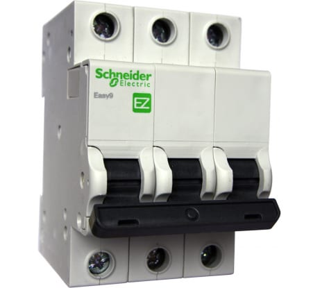 Фото автомата Schneider Electric EASY 9 3п C 32А 4.5кА EZ9F34332