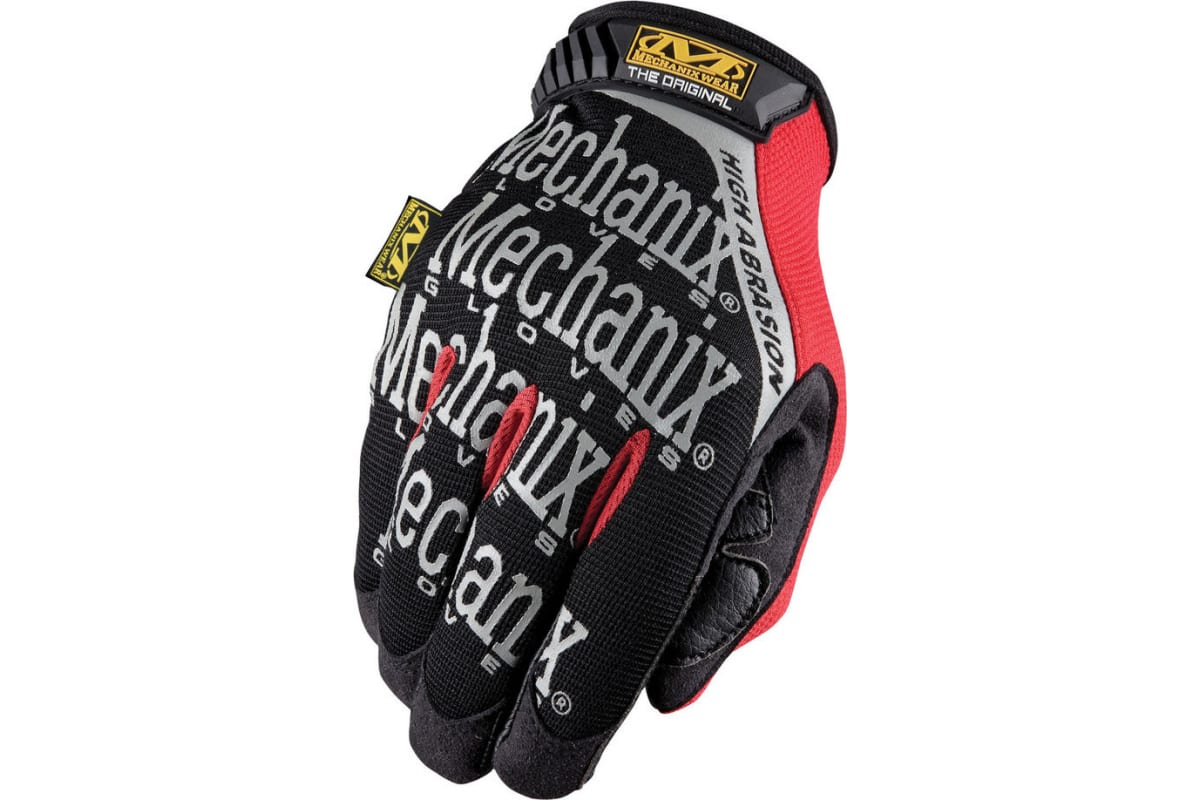 Перчатки Mechanix Original High ABRASION-BLACK/RED р.XL MGP-08-XL  1