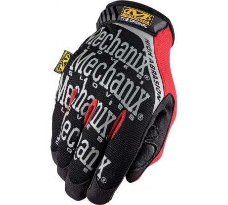 Фото перчаток Mechanix Original High ABRASION-BLACK/RED размер L MGP-08-L